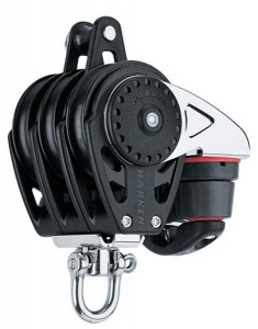 Harken Carbo Blok 57 mm tripel, svirvel, hunsvot,
