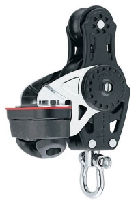 Harken Carbo Blok 57 mm enkelt, violin, Cam-Cleat