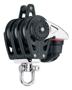 Harken Carbo Blok 40 mm tripel , svirvel , hunsvot