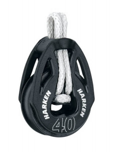 Harken T2 Blok 40 mm enkelt m. LOOP